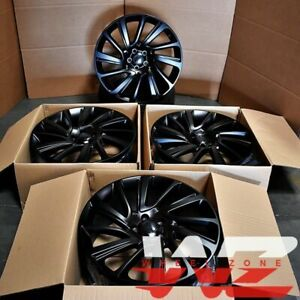22 Sv Style Wheels Satin Black Wheels Fits Range Rover Land Rover Hse Sport Lr3