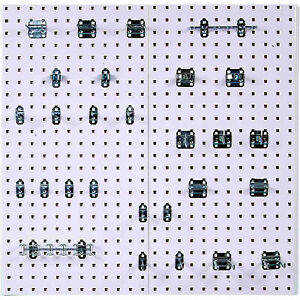 Triton Products 2 pc Locboard Wall mount Pegboard System 28 Hooks