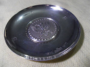958 Britania Standard Silver London 1972 Double Headed Eagle Coin Dish 76 5g
