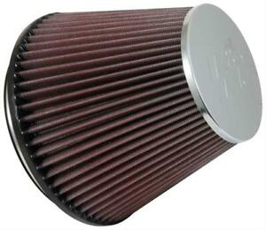 K n Air Filter Round Tapered 7 5 Dia 6 5 Tall 6 0 Inlet Clamp on Red Filter