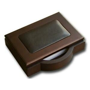 Dacasso A8409 Wood Leather 4x6 Memo Holder