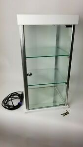 Heavy Duty Case With 3 Removable Shelves Recessed Lighting Mirror Bottom Lock