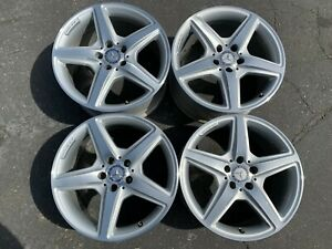 Four 2012 2018 Mercedes Cls550 Factory Amg 18 Wheels Oem Rims 85230 85231 E350