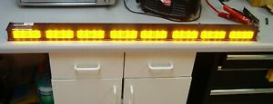 Code3 40 Led Light Bar Amber Narrowstick Lightbar 8 Light Heads