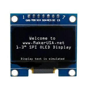 Hq 1 3 128 64 Oled Graphic Display Module Spi Lcd White