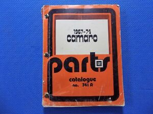 Camaro Master Parts Catalog 67 1974 original