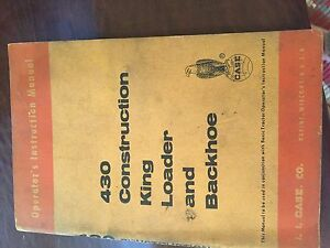 Case Backhoe 430 Tractor Operators Manual