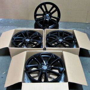 19 Black Wheels Fits Audi A4 A6 A8 Q3 Q5 Vw Phaeton Cc 19x8 5 35 5x112 Set 4