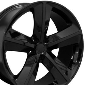 20 Black Wheels Fits Dodge Charger Srt8 Magnum Challenger Chrysler 300 20x9
