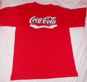 NWOT 1991 VINTAGE COCA COLA New York T-Shirt RARE RED Size Large