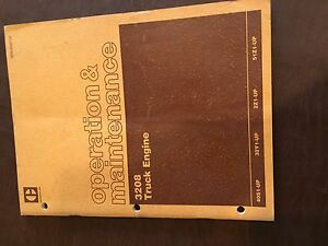 Caterpillar Cat 3208 Truck Engine Operation Maintenance Service Manual