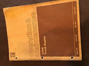 Caterpillar Cat 3208 Truck Engine Operation Maintenance Service Manual 2z1 32y