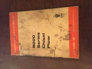 Case Chisel 5000 Plow Operator s Manual Tractor Service Operator
