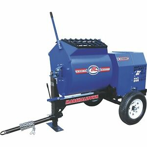 Marshalltown 1200mp3ep 3hp Electric Mortar plaster Mixer With Pintle Tow