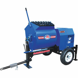 Marshalltown 800mp8hpo 8hp Gas Mortar plaster Mixer W pintle Tow And Outriggers