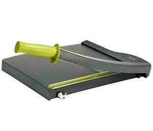 Paper Cutter Trimmer With A Sharp Guillotine Blade And 12 Cutting Length