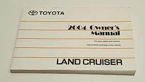 2004 Toyota Land Cruiser Owners Manual Book Land Cruiser Sport Utility 4x4 2wd