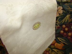 Antique Hand Woven Huck Show Towel Hs 555 Shamrock Brocade Never Used