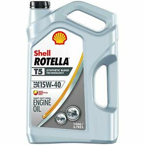 Rotella T5 Synthetic Blend Diesel Engine Oil 15w 40 1 Gallon Pack Of 1