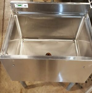77 Lb Ice Bin Under bar Stainless Commercial Cocktail Station 18 X 24