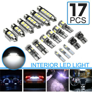 17pcs Festoon T10 T5 White Interior Led Light Bulb For Bmw E90 E91 E92 3