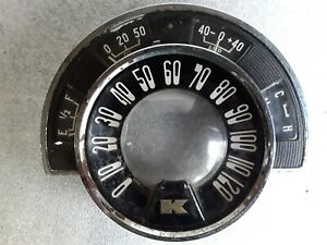 Vintage Kaiser Speedometer With Gauge Cluster Antique Automobile Car Dashboard