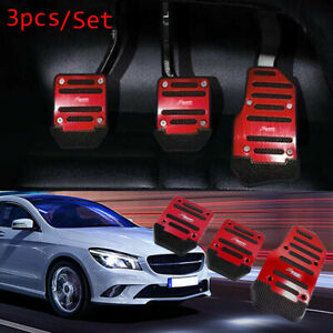 Red Racing Sport Manual Foot Pedal Pad Fit For Audi Honda Benz Accord Toyota Bmw