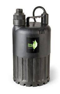 Eco Flo Sup80 1 2 Hp 3180 Gph Manual Submersible Thermoplastic Utility Pump