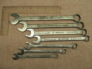 Vintage Proto Challenger 7pc Combination Wrench Set 3 8 To 3 4 12 Pt Usa