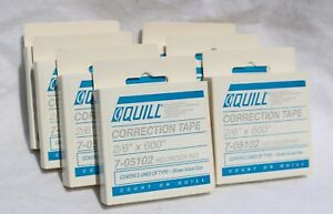 Lot Of 7 Quill Correction Tape 2 6 X 600 Reorder No 7 05102 Nib