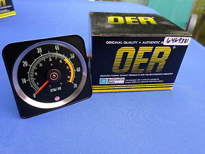 New 1969 69 Camaro Ss Rs 350 Tach 5 X 7 Dash Tachometer Oer Part 6469381