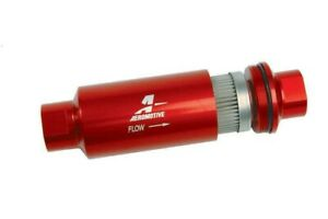 Aeromotive 12304 100 micron In line Fuel Filter Stainless Element Orb 10 Port