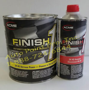 Finish1 Fp410 Fh411 2k Urethane Primer Surfacer Auto Paint Supplies Gallon Kit