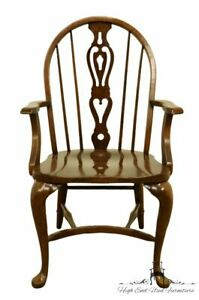 Pennsylvania House Solid Oak Rustic Traditional Spindle Back Dining Arm Chair