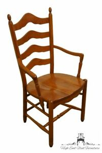 Tom Seely Solid Cherry Ladder Back Dining Arm Chair Honey Cherry Finish 1202