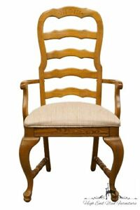 American Drew Saxony Collection Ladderback Dining Arm Chair 53 663 Wheat Fi