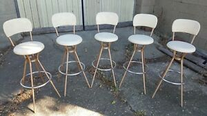 Vintage Hamilton Cosco Bar Stools Set Of 5 Nice Condition
