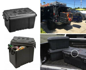 Plano 56 Quart Truck Bed Storage Trunk Tool Box Tote Tub Trailer Pickup Chest