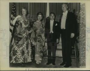 1960 Press Photo Sec of State and Mrs Herter with Japanese Royal Couple