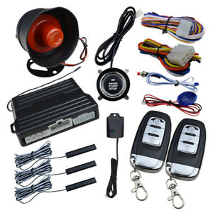 Car Modification One button Start Universal Remote Start Vibration Alarm System
