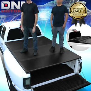 For 2005 2015 Toyota Tacoma Fleetside 5ft Bed Hard Solid Tri fold Tonneau Cover
