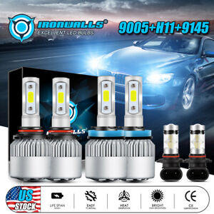6x H11 9005 9145 Led Headlight Fog Bulbs For Dodge Ram 1500 2500 3500 2009 2018