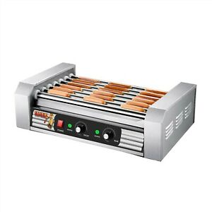 Stainless Steel Electric Commercial 18 Hot Dog 7 Roller Grilling Machine