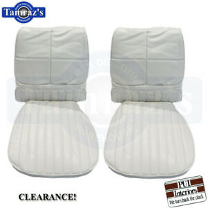 1970 Cutlass Supreme Front Bucket Seats Upholstery Covers White Pui Clearance