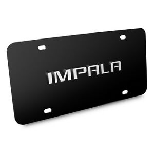Chevrolet Impala 3d Nameplate Black Stainless Steel License Plate