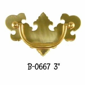 3 Drawer Pull Bat Winged Chippendale Style Drawer Pull Antique Vintage Style