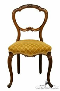 1920 S Antique Balloon Back Accent Parlor Dining Side Chair