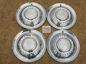 1955 Plymouth Belvedere Plaza Suburban 15 Wheel Covers Hubcaps Set Of 4