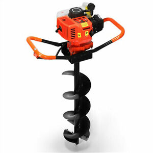 72cc 3kw Petrol Gas Powered Earth Auger Post Hole Borer Ground Drill 3 Bits