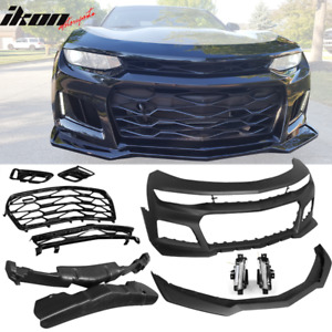 Fits 16 18 Chevy Camaro Front Bumper Cover Zl1 Drl Fog Lights No Turn Signal